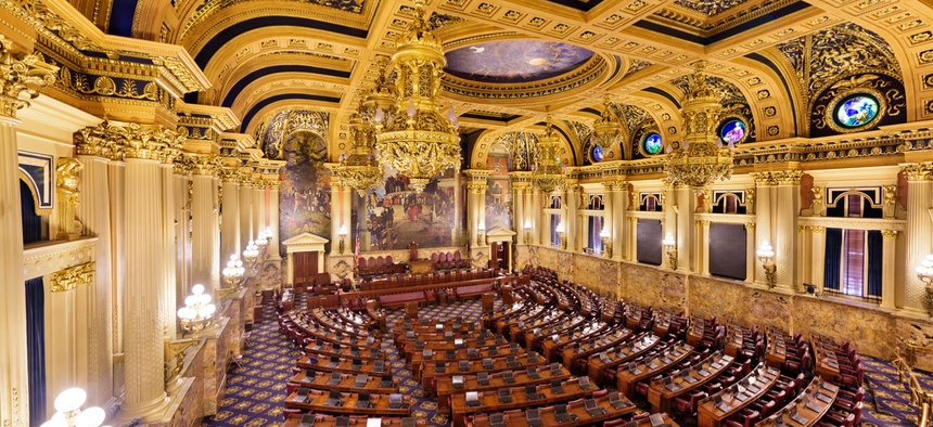 The Pennsylvania State House chamber.