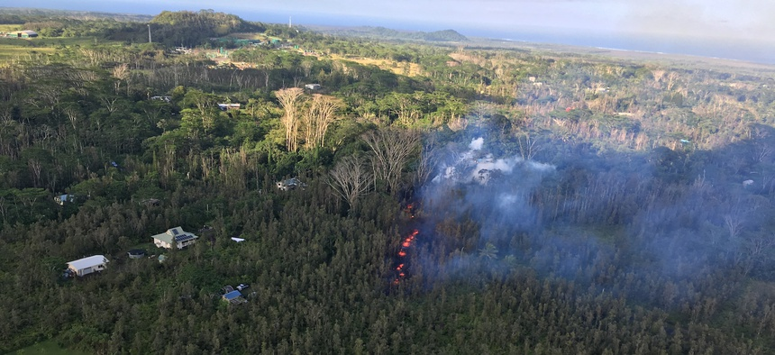 An eruption has commenced in the Leilani Estates subdivision in the lower East Rift Zone of Kīlauea Volcano.