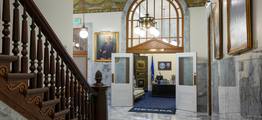 Inside the Nevada State Capitol