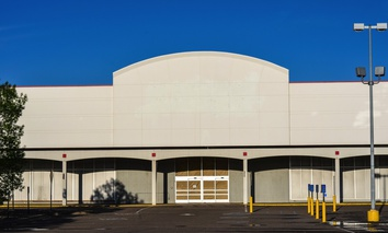 An abandoned big-box store in Minneapolis.