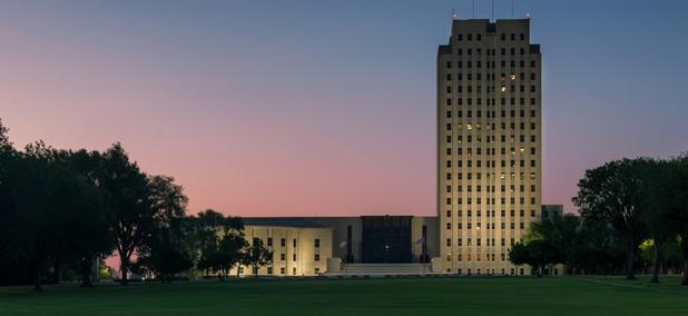 The North Dakota State Capitol in Bismarck