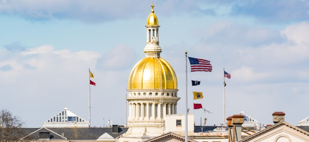 The New Jersey Statehouse in Trenton