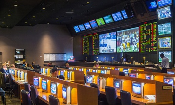 Sports betting at the New York-New York Casino in Las Vegas.