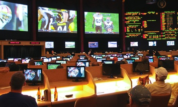 Sport betting at Caesar's Palace in Las Vegas