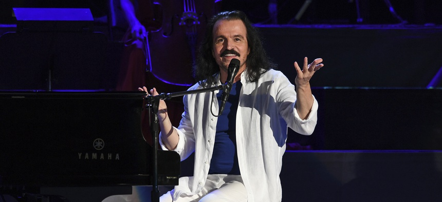 Yanni performs at The Coral Sky Amphitheatre on April 28, 2018 in West Palm Beach Florida