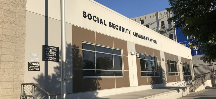 The Social Security Administration office on Vine Street in Los Angeles.