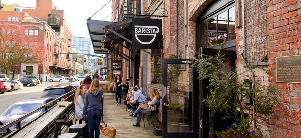 Portland is the most hipster city in the U.S., thanks partly to its many coffeeshops.