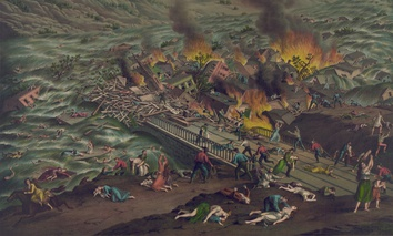 A dramatized depiction of the Johnstown Flood of 1889.