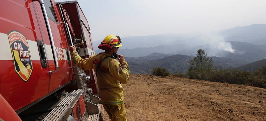 Cal Fire engineer C, ... ]