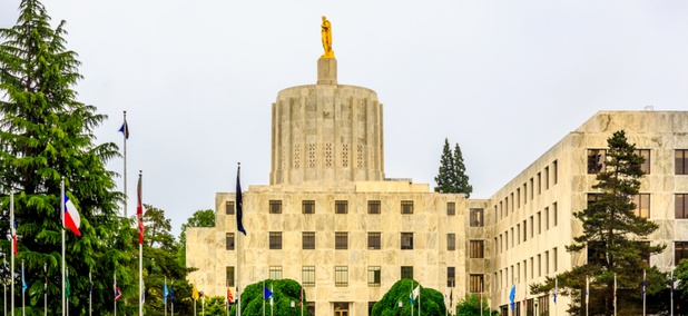 The Oregon State Capitol in Salem.