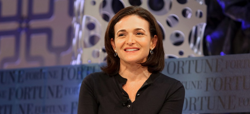 FILE PHOTO: Sheryl Sandberg, Chief Operating Officer of Facebook, speaks at the 2014 Fortune Most Powerful Women Summit.