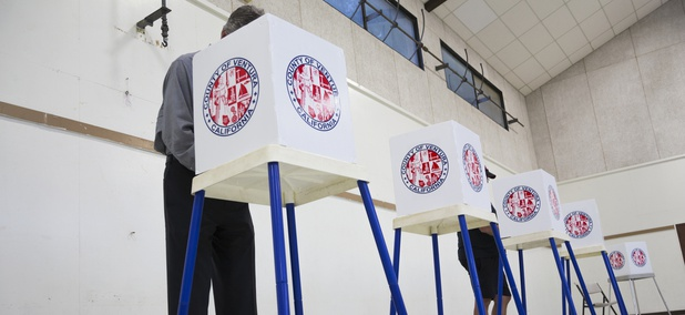 Oak View, California, November 4, 2014, election booth polling stations