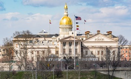 New Jersey state capitol building in Trenton.