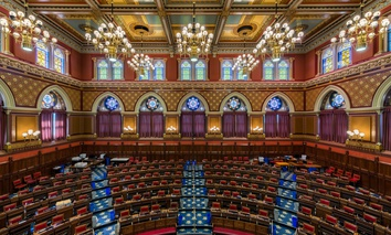 The Connecticut House of Representatives chamber.