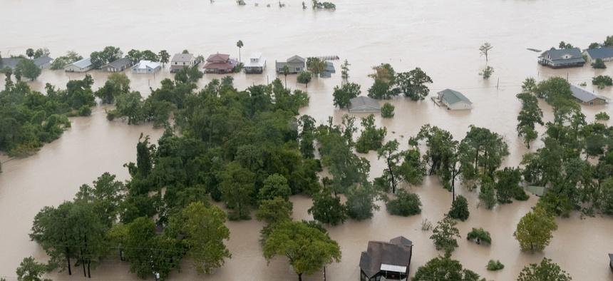 Flooding from Hurricane Harvey in 2017.