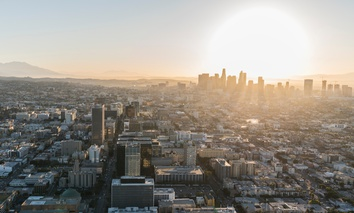 Looking out over Koreatown in Los Angeles