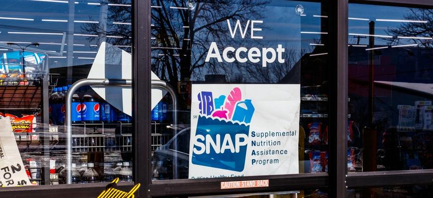 A sign at a retailer.