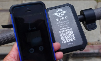 Bird scooters use an app to lock and unlock them.