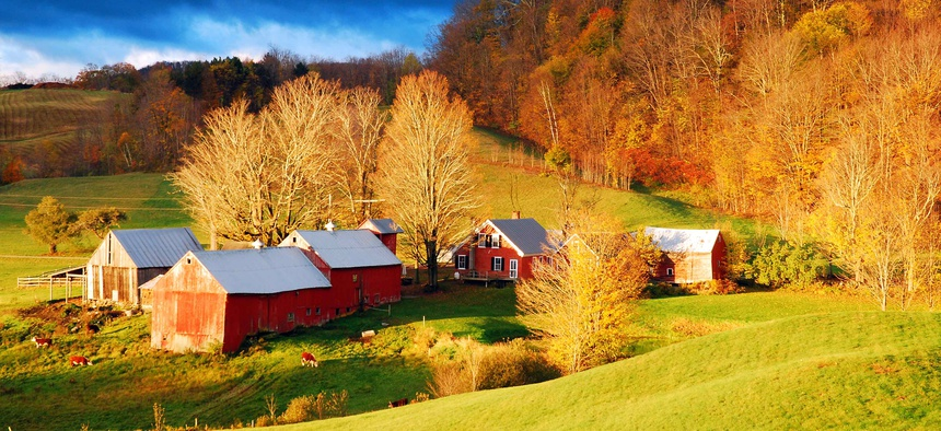 A house and barns in Vermont.