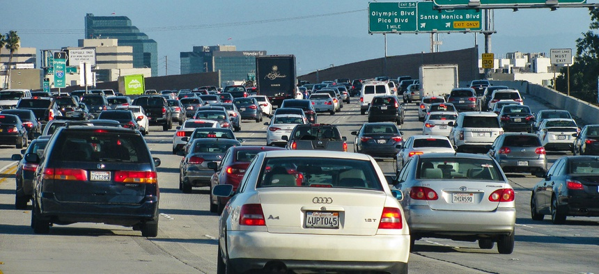 Cars on Interstate 405 in Los Angeles.