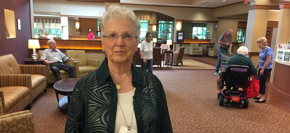 Kathleen Henry, 80, leads voter registration at Greenspring retirement community in Springfield, Virginia. New mobile polling programs aim to bring the vote to residents of long-term care facilities.