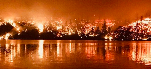 The Carr Fire burns an area near Whiskeytown.