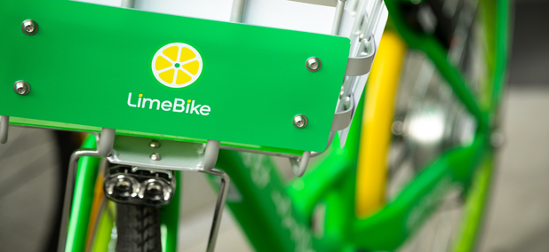 Lime bikes in Seattle.