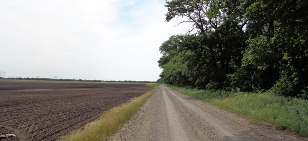 A rural road near Emporia, Kansas