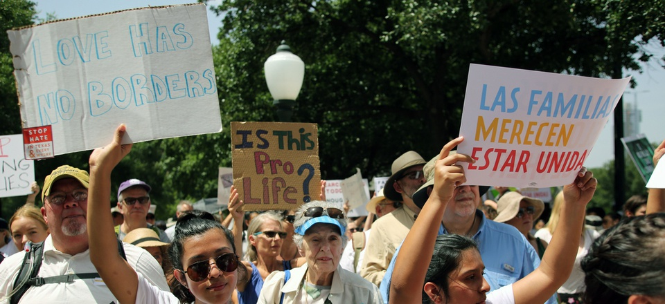 Protesters at a rally against federal family-separation policies in June at the Texas state capitol in Austin.