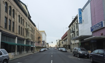 A file photo of Main Street in Stockton, California.