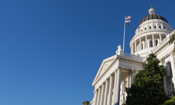 The California State Capitol in Sacramento.