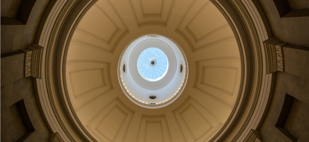 The rotunda in the North Carolina State Capitol in Raleigh.