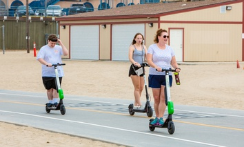E-scooters in Santa Monica, California