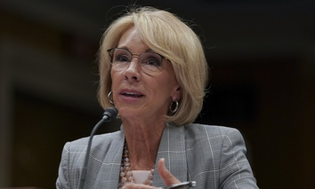 Education Secretary Betsy DeVos testifies during a Senate Subcommittee on Labor, Health and Human Services, Education, and Related Agencies Appropriations hearing to review the Fiscal Year 2019 funding request for the U.S. Department of Education.