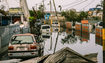 Streets in the Ocean Park sector of San Juan remain flooded weeks after Hurricane María utterly devastated the entire island of Puerto Rico.