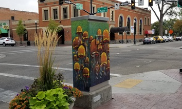 """Electric Jelly"" at the corner of 6th & Main streets in downtown Boise, Idaho"