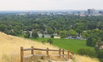 Boise, Idaho, as seen from Camel's Back Park.