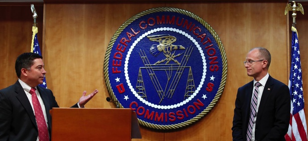 Federal Communications Commission Commissioners Michael O'Rielly, left, and Brendan Carr.