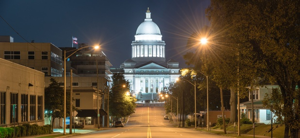 The Arkansas State Capitol in Little Rock
