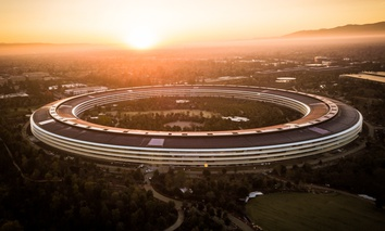 The Apple headquarters campus in Cupertino, California.
