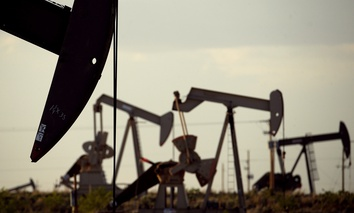 Oil pumps near Lovington, New Mexico. An energy boom in Southwestern states may be feeding a national surge in economic activity.