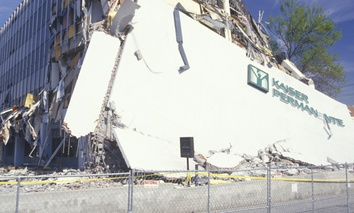 A Kaiser Permanente office building in Los Angeles was damaged in the 1994 Northridge earthquake.