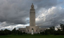 The Louisiana state capitol building in Baton Rouge.