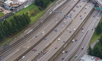 Interstate 5 near downtown Seattle