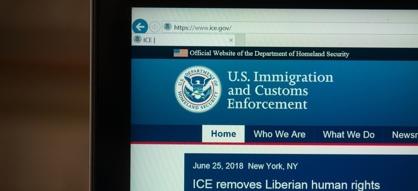 Immigration and Customs Enforcement website