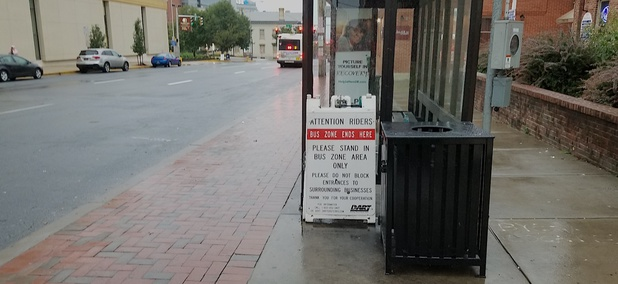 DART wants its bus riders to steer clear of local businesses along King Street in downtown Wilmington.