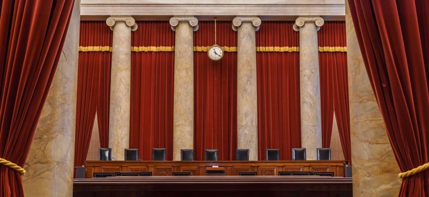 An interior view of the U.S. Supreme Court.