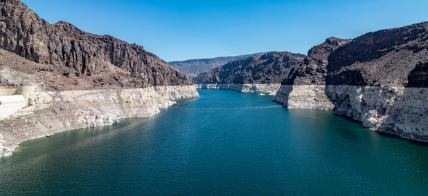 Lake Mead, behind Hoover Dam on the border of Arizona and Nevada