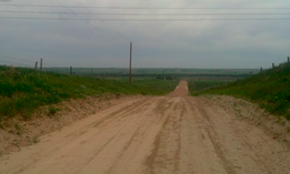 A rural road in western Nebraska