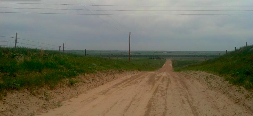 A rural road in western Nebraska